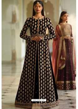 Black Designer Heavy Silk Lehenga Style Suit