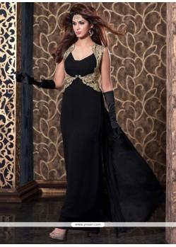 Sterling Black Zari Work Net Anarkali Salwar Suit