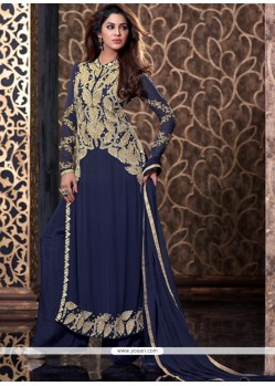 Sonorous Blue Georgette Designer Palazzo Salwar Suit