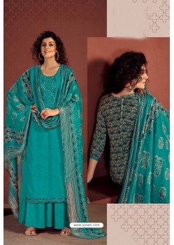 Teal Party Wear Readymade Palazzo Salwar Suit