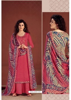 Dark Peach Party Wear Readymade Palazzo Salwar Suit