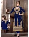 Intrinsic Blue Georgette Churidar Salwar Suit