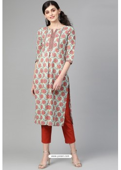 Amazing Multi Colour Casual Wear Cambric Cotton Kurti