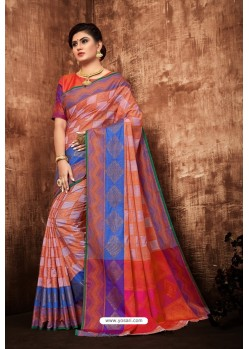 Multi Colour Classic Designer Tanchui Art Silk Saree