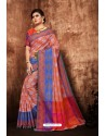 Multi Colour Classic Designer Tanchui Art Silk Saree