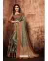 Black And Gold Classic Designer Tanchui Art Silk Saree
