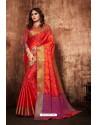 Rani And Red Classic Designer Tanchui Art Silk Saree