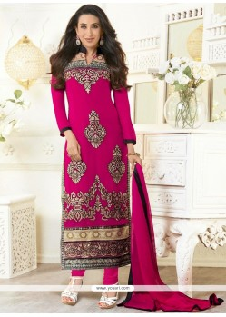 Karishma Kapoor Magenta Georgette Churidar Suit