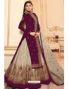 Purple Faux Georgette Designer Lehenga Suit