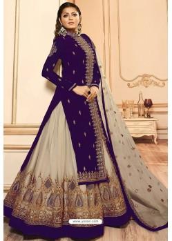 Violet Faux Georgette Designer Lehenga Suit