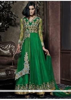 Royal Green Designer Ankle Length Anarkali Suit