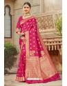 Flawless Rani Pink Designer Traditional Wear Silk Saree