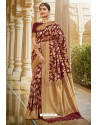 Maroon Designer Traditional Wear Silk Saree