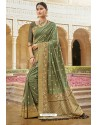 Sea Green Designer Traditional Wear Silk Saree