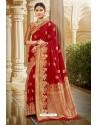 Pretty Red Designer Traditional Wear Silk Saree