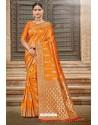 Orange Designer Traditional Wear Silk Saree