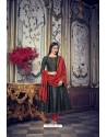 Black And Red Heavy Chanderi Silk Designer Straight Suit