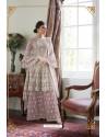 Mauve Heavy Designer Soft Net Sharara Suit