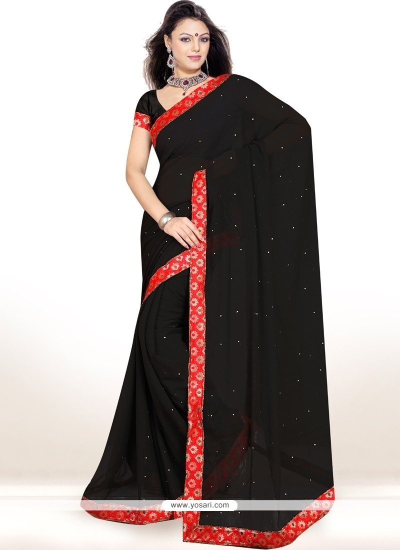 Delightful Black Casual Saree