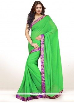 Fabulous Green Casual Saree