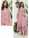 Pink Party Wear Faux Georgette Floor Length Suit