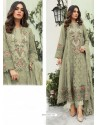 Light Beige Party Wear Faux Georgette Floor Length Suit