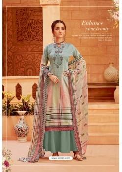 Multi Colour Latest Pure Zam Cotton Palazzo Suit