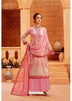 Light Pink Latest Pure Zam Cotton Palazzo Suit