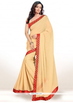 Prepossessing Lace Work Casual Saree