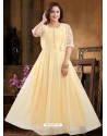 Trending Yellow Georgette Readymade Heavy Designer Suit