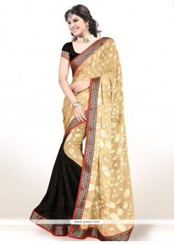Integral Lace Work Brasso Designer Half N Half Saree