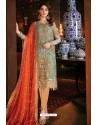 Aqua Mint Latest Heavy Designer Indo Western Suit