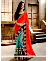 Mesmerizing Patch Border Work Faux Chiffon Designer Saree