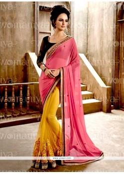 Sunshine Faux Chiffon Resham Work Designer Saree