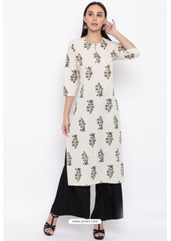 Off White Readymade Casual Wear Kurti