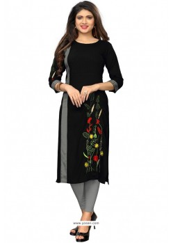 Black Readymade Casual Wear Kurti