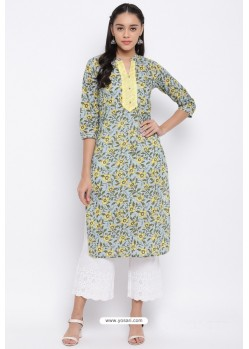 Multi Colour Readymade Casual Wear Kurti