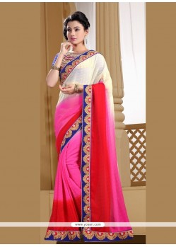 Perfect Faux Chiffon Designer Saree
