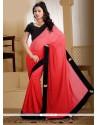 Praiseworthy Red Georgette Contemporary Saree