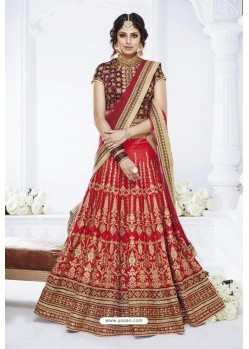 Red Dhupion Designer Wedding Wear Bridal Lehenga Choli