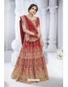 Red Bhagalpuri Designer Wedding Wear Bridal Lehenga Choli
