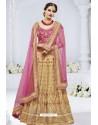 Beige And Rani Heavy Designer Wedding Wear Bridal Lehenga Choli