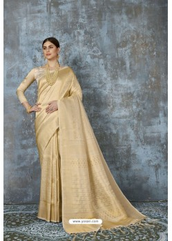 Golden Designer Classic Pure Silk Saree