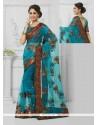Beauteous Black Embroidered Work Designer Saree