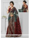 Vehemently Georgette Lace Work Designer Saree