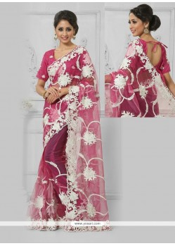 Angelic Embroidered Work Net Designer Saree