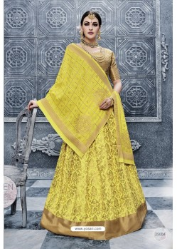Yellow Banarasi Silk Heavy Designer Lehenga Choli