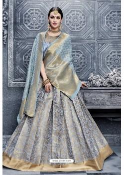 Blue Banarasi Silk Heavy Designer Lehenga Choli