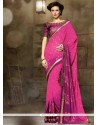 Sorcerous Georgette Embroidered Work Designer Saree