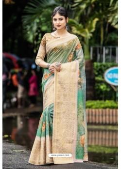 Multi Colour Latest Cotton Printed Saree